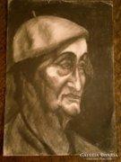Régi portré rajz