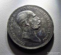 Ag 1 korona 1908, uralkodásának 50. évfordulójára