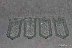 4 db üveg fűszeres kis fiókok  ( 0024 )