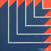 E. Kunz jelzéssel : Színek, sávok 1976
