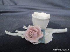 ENS rózsás gyertyatartó, mutatós darab