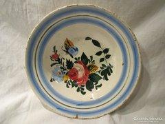 Miskolczi festett pillangós keménycserép tányér