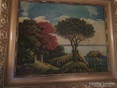 Korai és eredeti olajfestmény, szép állapotban