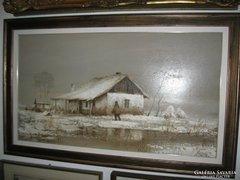 Puskás Imre szép festménye eladó