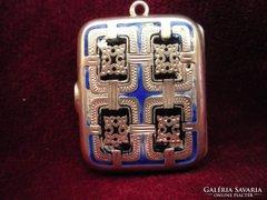 Art deco fényképtartós ezüst medál 852438/14