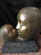 Kiss László Bronzszobor  anya lánya