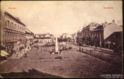 Képeslap Szolnok - Piac tér 1911