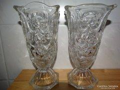 Antik üveg vázapár