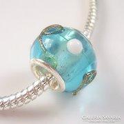 Muranoi, kézzel festett üveg pandora gyöngy ME-PA09-6