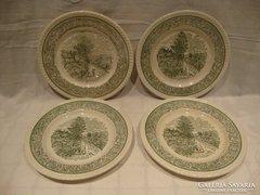 Jelenetes fajansz tányérok 4 db