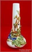 Zsolnay váza kék szőlős
