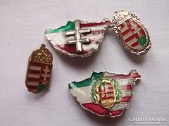 Magyar címeres kitűző zománc többféle