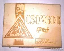 Csongor szivaros doboz 8 darab szivarral.