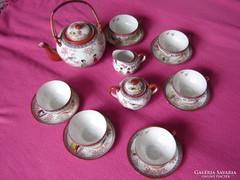 Japán porcelán reggeliző készlet gésaportréval
