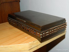 Retro bronz díszdoboz - dandárparancsnoki ajándék  1986-ból