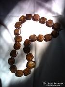 Egyedi nyakék bronzit ásványkőből,uniszex