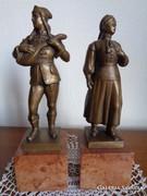 Szege Sándor,bronz  szobor pár ! Kisplasztika   1883-1945