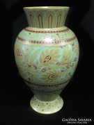 Zsolnay türkiz, savmaratott eozin váza