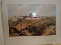 Jeruzsálem, Óváros litográfia, 38 x 30 cm