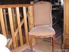 2 darab XV.Lajos stilusú antik barokk szék