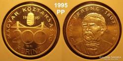 Magyar Ag  ezüst 200ft 1995 PP