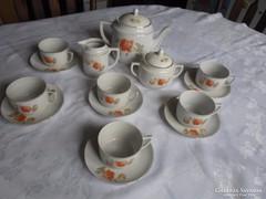 Zsolnay pajzspecsétes teáskészlet