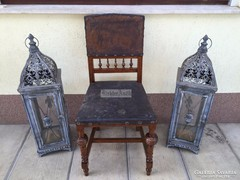 Antik bútor, Ónémet bőrös szék.
