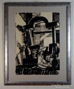 """Bortnyik Sándor (1893-1976) """"Műteremrészlet"""""""