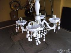 4 ágú fehér porcelán törzsű csillár eladó!