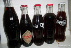 4 db bontatlan üveges coca-cola