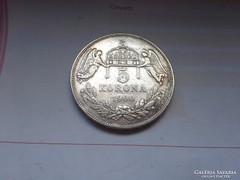Ezüst 5 korona magyar 1900 keresett db