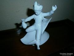 (Aladin) Porcelán vitrin dísz festetlen.