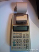 Retro szalagos számológép CASIO elemmel/adapterel működik