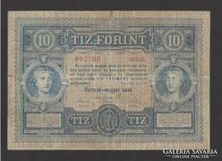 10 forint/gulden 1881.  NAGYON SZÉP!!  RITKA!!!