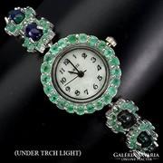 Valodi Ausztraliai Fekete Opal Smaragd 925 Ezust Ora