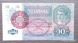 10 Korona 1915 EF Magyarország bélyegző!!!