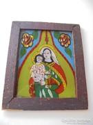 Üvegre festett szentkép