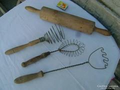 Négy darab régi konyhai eszköz - együtt eladó