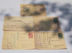 Nagyon érdekes 5 darab Horthy korabeli levelező lap ( A-02)