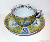 HERENDI mandarinfogós Siang jaune kávés csésze és alj