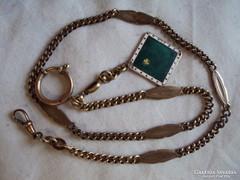 Nagyon szép szép régi Zsebóra lánc(jelzett  bronz)