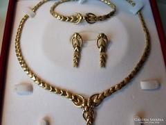 Csodás 14k  luxus arany ékszer szett