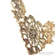 Csipke hatású divatos egyedi bronz nyakék