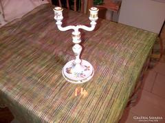 Herendi porcelán gyertyatartó viktória mintás