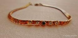 Gyönyörű antik aranyozott karkötő církon kövekkel