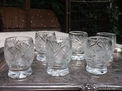 Kristály pohárkészlet 6 db-os m 6 cm