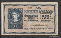 25 korona 1918. NAGYON SZÉP !!!