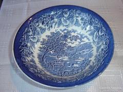 Kék angol szekeres tésztás tál
