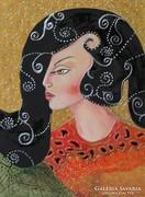 SHIREEN-festmény KERETTEL