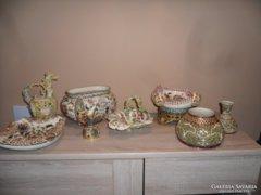 Zsolnay porcelán gyűjtemény 8 db